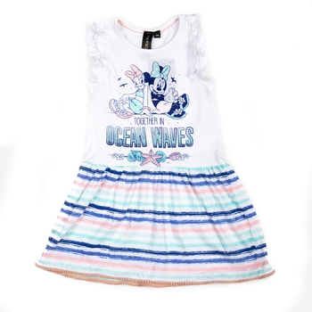 White printed cotton kids-frocks