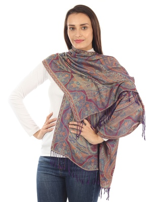 Super Fine Soft Women's Mudal Reversible Pashmina Scarf, Stole & Wrap with Hanger