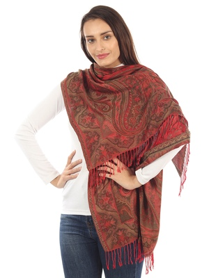 Super Fine Soft Women's Mudal Reversible Pashmina Scarf, Stole & Wrap with Hanger