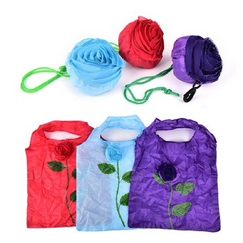 Shree Shyam Products Reusable Rose Shopping Bag Ecofriendly Nylon Set Of 12 Pcs Big Size Assorted Color