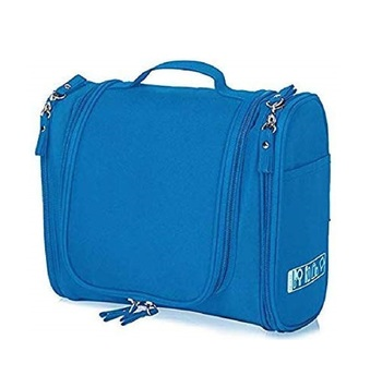 Shree Shyam Products Light Blue Hanging Waterproof Travel Cosmetic Bag Oxford Matty Set Of 1 Pcs Pouch Large Capacity