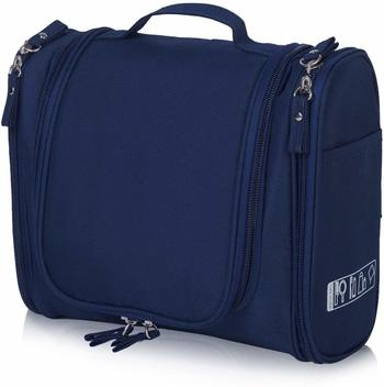 Shree Shyam Products Nevy Blue Hanging Waterproof Travel Cosmetic Bag Oxford Matty Set Of 1 Pcs Pouch Large Capacity