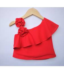 Many Frocks & rose detailed summer top - red