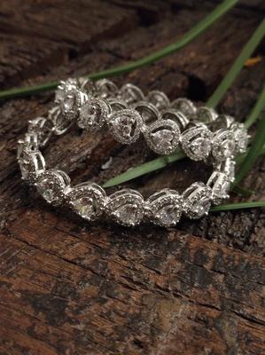 Faux Diamond Victorian Bangles