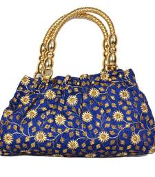 Silk Purse Hand Bag With Embroidery Work Multicolour For Women And Girls