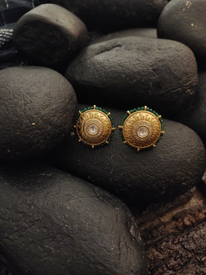 Green Gold Plated Studs