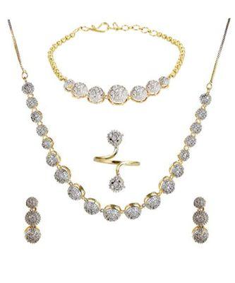 White Diamond Jewellery Set