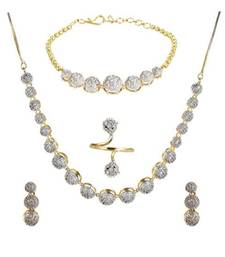 White Diamond Jewellery Set