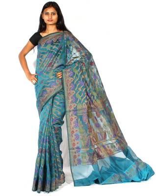 Supernet fancy Multi-colour Design saree