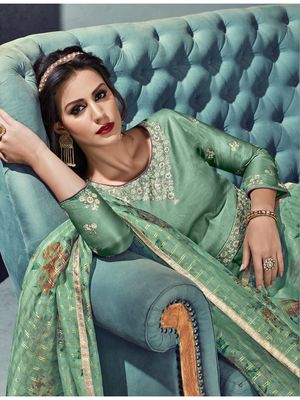 Maroon multi resham work silk salwar