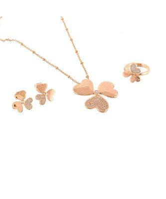 rose gold beautiful flower design special valentine gift pendant combo