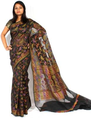 Supernet fancy Multi-colour Design saree