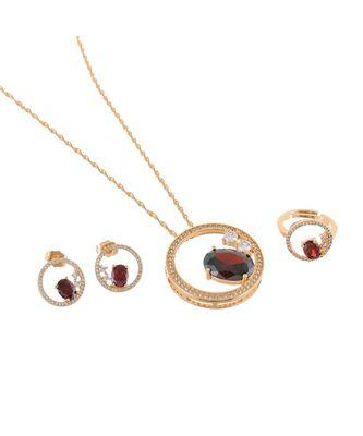 maroon rose gold stylish designer diamond valetine gift pendant combo