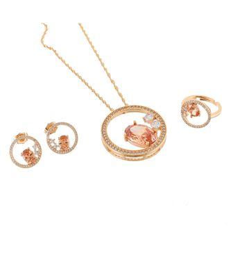 yellow rose gold stylish designer diamond valetine gift pendant combo
