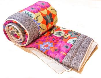 Multicolor Floral Print Jaipuri Razai