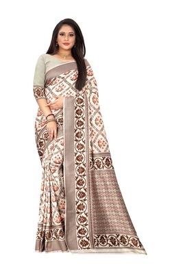 Light pink woven jacquard saree with blouse