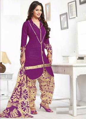 c7317d6297 Elegant Cotton Designer Patiyala Unstitched Dress Material Salwar Suit D.No  B207 - Dharmesh Enterprise - 431746