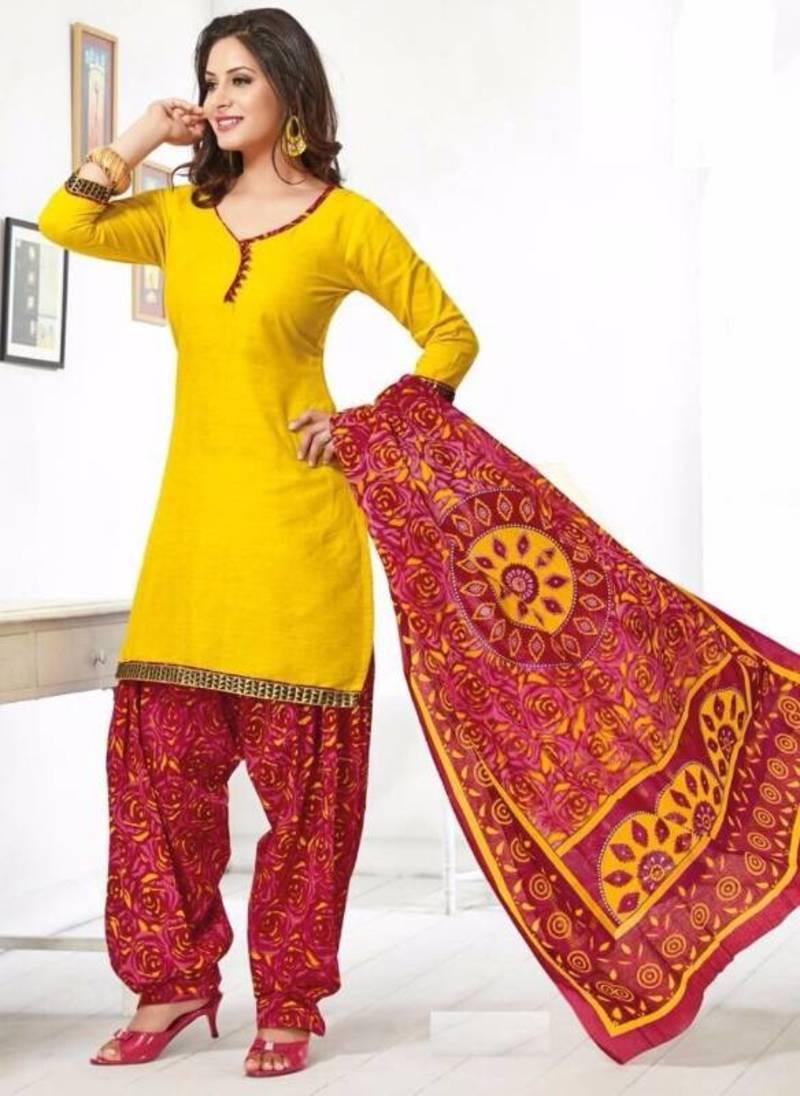 169f9d230e Elegant Cotton Designer Patiyala Unstitched Dress Material Salwar Suit D.No  B208 ...