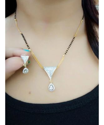 Silver stone necklace sets