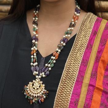 Gold Tone Multicolor Necklace