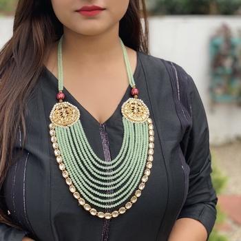 Mint Gold Tone Kundan Necklace