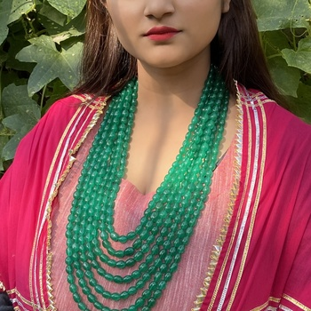 Green Multistrand Necklace