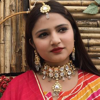 Mint Gold Tone Kundan Necklace Set