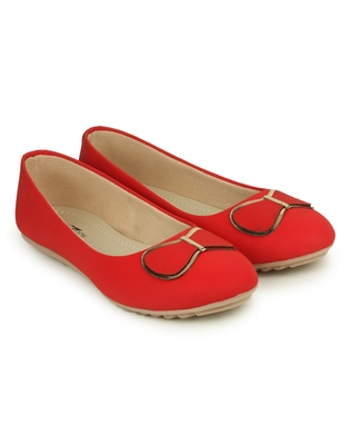 Beautiful Red color synthetic material Bellies for women