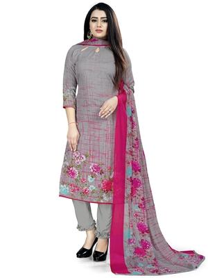 Grey printed cotton salwar