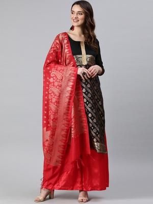 Black weaved banarasi silk salwar