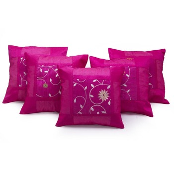 Designer Booti Embroidered 5 Pc Cushion Covers Set