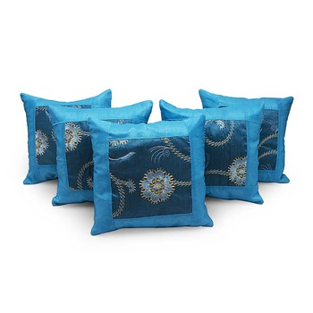 Designer Booti Turquoise 5 Pc. Cushion Covers Set