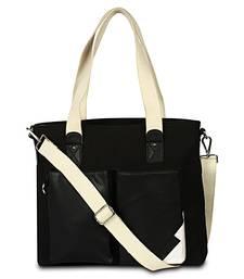 Unisex Canvas & faux Leather Sholder Hand bags Cum messenger bag