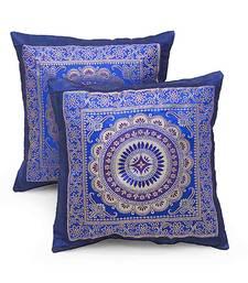 Chakri Design 2 Pc. Royal Blue Cushion Covers Set