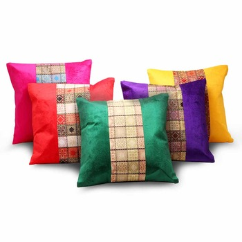Jacquard Designer Assorted 5 Pc Cushion Covers Set