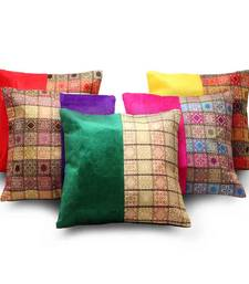 Buy Banarasi Assorted 5 Pc Jacquard Cushion Covers Set other-home-furnishing online
