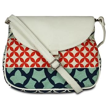 Women Canvas Printed Sling Bags
