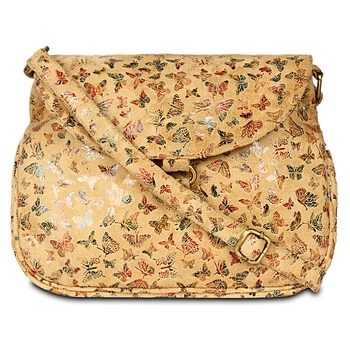 Women Leather Butterfly Print Sling Bags