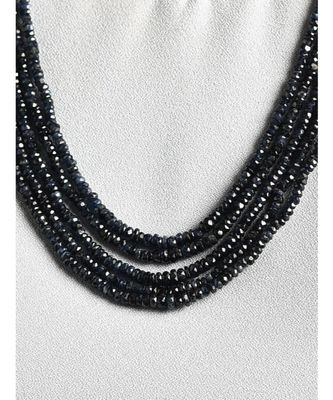 Black Gold Tone Beaded Multilayered Necklace