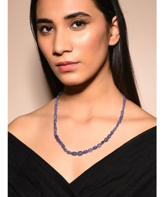 Blue Natural Stones Gold Tone Necklace