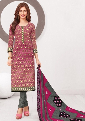 MULTICOLOUR PRINTED CREPE SALWAR WITH DUPATTA UNSTITCHED