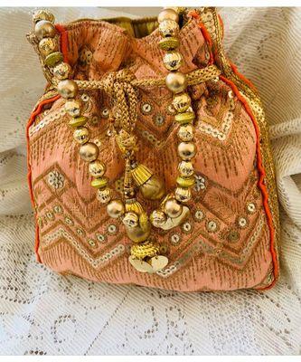 Raw Silk Designer Potlis