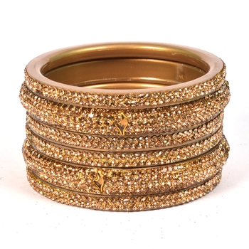 Hyderabadi Beautiful Stones Bangles For Women And Girls Party Wear Set Of 6
