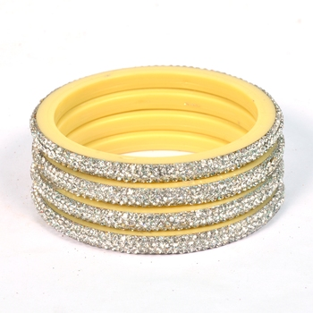 Hyderabadi Beautiful Stones Bangles For Women And Girls Party Wear Set Of 4