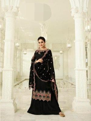 Black embroidered santoon salwar