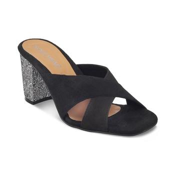 SOLE HEAD Black Wedges Sandal