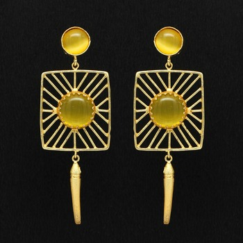 Yellow danglers-drops