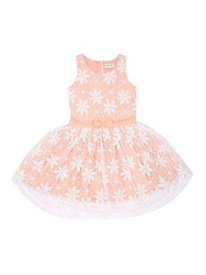 Gini & Jony White Plain Cotton Girls Dress
