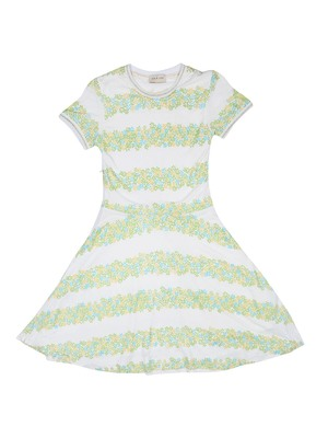 Gini & Jony White Printed Cotton Girls Dress