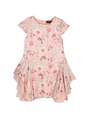 Gini & Jony Pink printed cotton girls dress